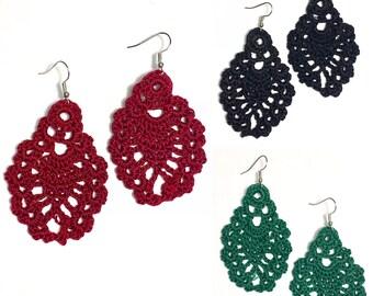Teardrop Crochet Earring
