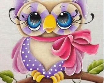 Diamond embroidery animal owl cartoon 3d diamond painting cross stitch picture diamond square diamond package full of diamonds