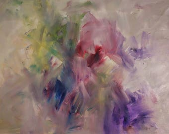 Abstract painting oil and acrylic