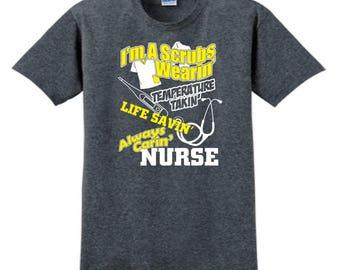 NURSES T-SHIRT, Custom T-Shirt, Nurse Gifts, Personalized T-Shirt, Custom Tees, Nurse Appreciation, Registered Nurse, Nurse Assistant