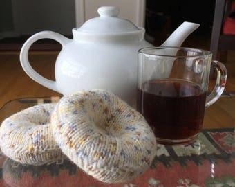Plush Knitted Bagel