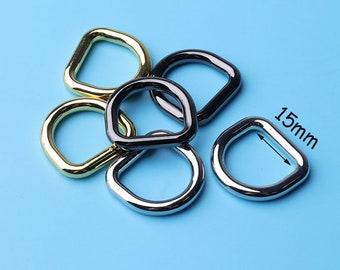 4pcs Handbag D Rings, 5/8 '' D Ring, Purse Hardware, Wallet Hardware, Diy hangbag supplies 15mm inner dri18