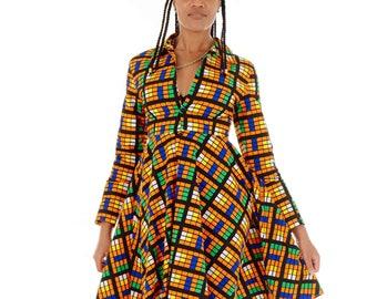 Toriola Flared Long Sleeved Dress