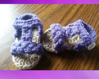 Baby girl sandals crochet braided baby shoes