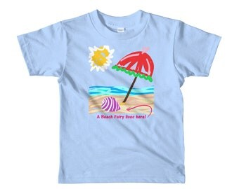 Beach Fairy Girls Short sleeve kids t-shirt