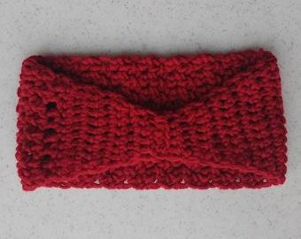 Red Crochet Headband/ Ear Warmer