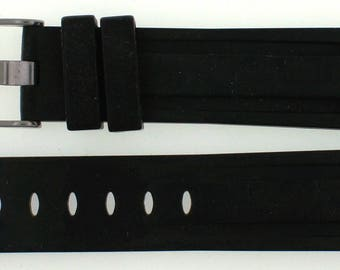Orsa Black Silicone 22mm Watch Band