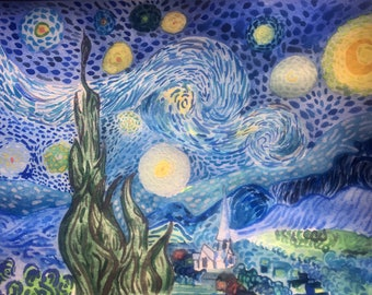 The Starry Night in Watercolors
