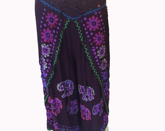 Long pants for woman,Flower and elephant pattern