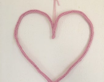 Knitting heart