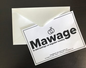 """Template Save the Date """"Mawage"""""""