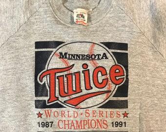 Minnesota Twins World Series Champions Sweat Shirt 90's