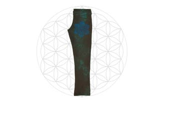 Organic Leggings - One of a Kind Hand Dyed leggings - Handmade from Organic Cotton and Hemp Jersey - Made in the United States