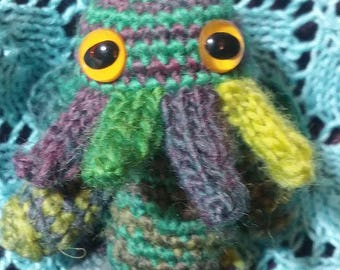 Steam-mas special striped wool Cthulhu crochet plush