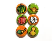 Gourd Magnets or Pins - T...