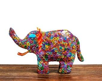 Elephant decor, Elephant sculpture, elephant art, elephant, Home design, home decor elephant, Art, polymer clay, colorful, Sculpture