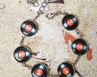 Vinyl Record Bracelet