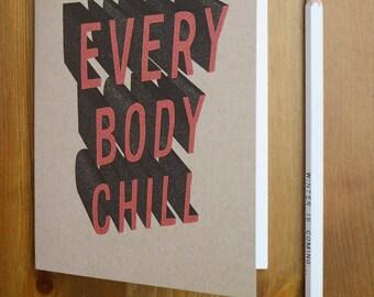 Everybody Chill Pocket Sketchbook, Notebook, Journal, Diary, Field Notes, blank book, dream journal, plain paper, moleskine, secret santa