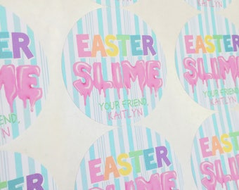 Easter Slime,Easter Stickers, Slime stickers,Easter Slime Favors, Easter Party favors, Easter bunnt slime, Easter labels