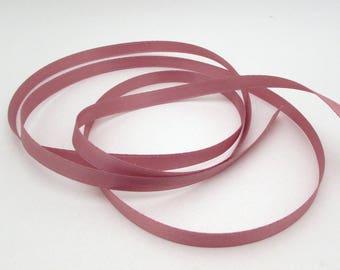 Ribbon yardage - 90+ yards - rose pink double-face satin ribbon - 3/8 inch wide - destash - purple - bulk wholesale wedding