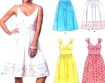 Wedding Bridesmaid dress or cocktail  frock sewing pattern New Look 6672 Size 8 to 18 Uncut