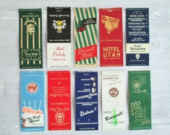 Lot of 10 Vintage Matchbook Covers - LOT B