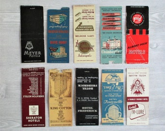 Lot of 10 Vintage Matchbook Covers - LOT E