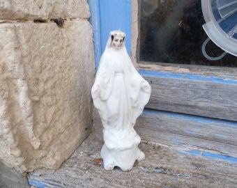 Vintage Antique 1890/1900 French porcelaine de Paris statue Holy Virgin