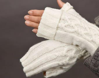 PATTERN ONLY Cuffed Twisted Cable Mitts