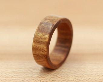 Verawood Ring - Custom Wood Ring - Unique Wedding Ring - Wedding Ring - Wooden Ring - Mens Jewelry - 5 Year Anniversary