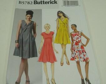 Butterick Easy Misses' Dress Pattern B5782 Size 6, 8, 10 ,12, 14