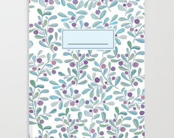 Frosted Berries Blank Notebook Journal