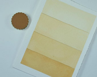 Full Pan or Large Cap - Lemongrass Lt Yellow Ochre, Anthesis Arts Artisanal Handcrafted Handmade Watercolor Paints, Choose Your Size