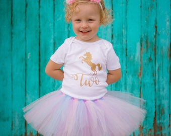 Unicorn First Birthday Outfit Girl, Unicorn Tutu Set, Unicorn Outfit, Unicorn Cake Smash Outfit Girl, Unicorn Headband, Unicorn Birthday
