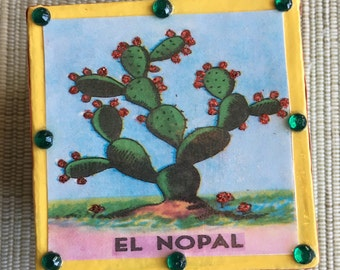 Loteria Decoupage El Nopal Cactus Gift Box