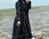 Selina XL Leather ragamuffin couture by Frankensweater upcycled recycled gypsy coat