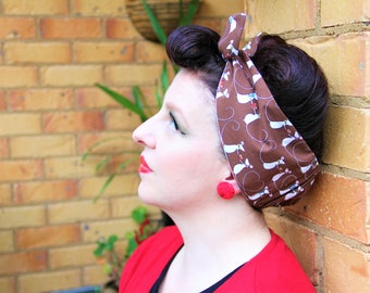 SWEET TREATS Candy Shop Mouse Mice - Head scarf/ Dolly bow/ Bandana.  Retro/ Rockabilly/ Vintage inspired