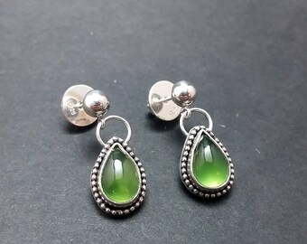 Gem Serpentine Drop Earrings