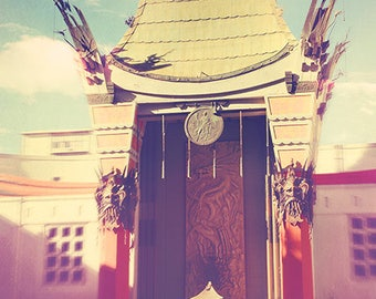 Manns Chinese theatre, Grauman's Theatre photograph, Hollywood art, Los Angeles photo, movies, film cinema lovers, actors, oscars