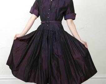 SALE Purple Taffeta Dress