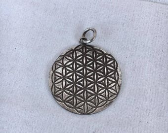 Flower of Life - sterling silver pendant