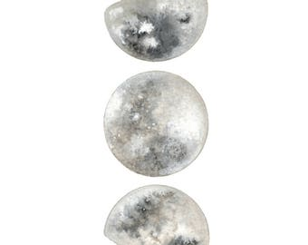 RESERVED for Christina - Moon Phases 3 - Original Contemporary Watercolour Painting - Astronomy Art, Luna - by Natasha Newton