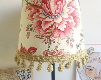 Lampshade antique French floral fabric