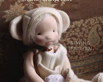 Doll Hat Pattern | Waldorf Doll Clothing | Doll Clothing Sewing Pattern | DIY Doll Clothing | Fig and Me Mouseling Hat | Doll Bonnet Pattern