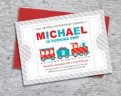Train Party Invitation – Personalized DIY Printable (Digital File)