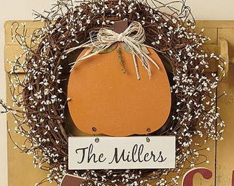 """Personalized pumpking wreath, 18"""" -20"""""""