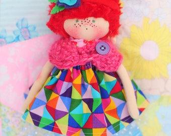 "Loralee - 10"" Handmade Doll"