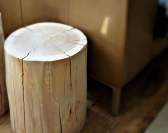LAST ONE - Natural Log Table - side table - coffee table - bedside table - plinth - pedestal - log stump - tree trunk - wood - log - stool