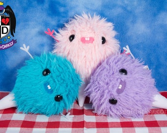 Cutie Cotton Candy plush fluffy pal in three colors