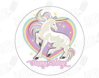Unicorn Cupcake Toppers, Unicorn Birthday Cupcake Toppers, Birthday Unicorn Cupcake Toppers, Unicorn, Unicorn Party Toppers, DIGITAL FILE